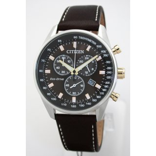 Kompakter Citizen ECO-DRIVE Solar Sport-Chronograph - 10 BAR WR - AT2396-19X