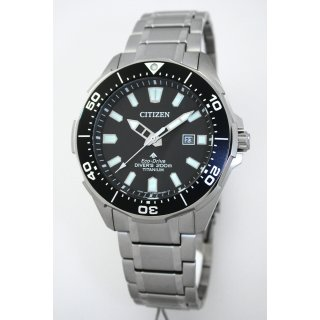 Citizen TITAN ECO-DRIVE Solar Divers 200 Taucheruhr Herrenuhr BN0200-81E