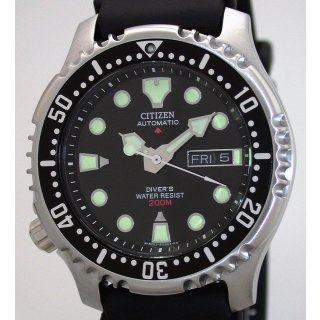 Citizen PROMASTER AUTOMATIC DIVERS Stahl- + Kunststoffband Ref. NY0040-09EEM