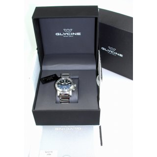 Glycine AIRMAN Double Twelve Automatic Worldtimer 42 mm 10 ATM WR GL0175