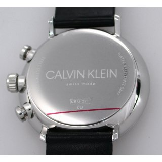 Calvin Klein Swiss Made High Noon 43mm Herrenuhr Chronograph 5 BAR WR Ref. K8M271C1