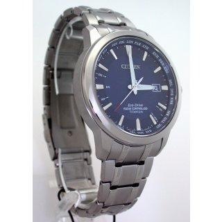 Citizen SuperTitanium World-Time ECO-DRIVE SOLAR FUNKUHR - 10 BAR WR  CB0190-84L