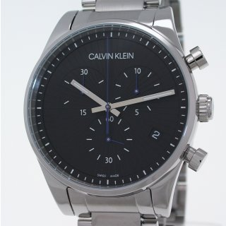 Calvin Klein STEADFAST 42 mm Swiss Made Herrenuhr Chronograph Ref. K8S7141