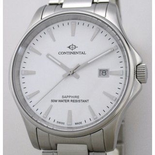 CONTINENTAL SWISS MADE Herrenuhr Saphirglas UVP* 199,00 EUR Ref. 21-14203-GD10173
