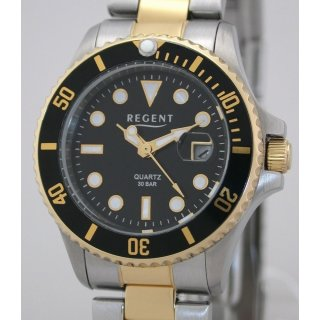 Regent STEEL bicolor DAMEN-TAUCHERUHR  - 30 BAR WR UVP 99,00 EUR