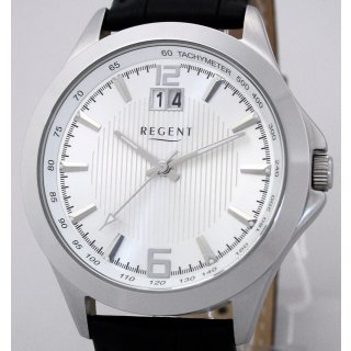 Regent Steel Big Date Herrenuhr NEU UVP* 74,90 EUR - 5 BAR WR